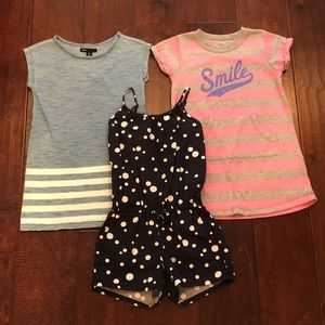 Tunic dresses and jumpsuit